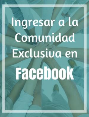 Accede al Grupo de Facebook