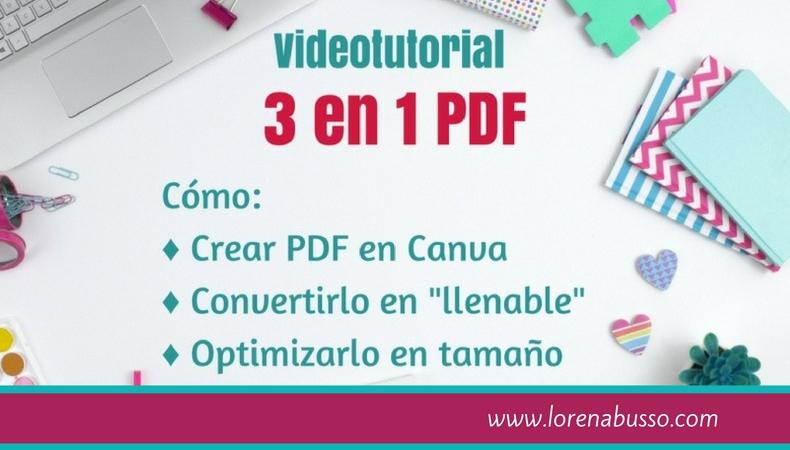 Videotutorial: 3 en 1, todo con archivos PDF